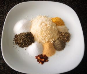 Spices for easy tomato parmesan soup