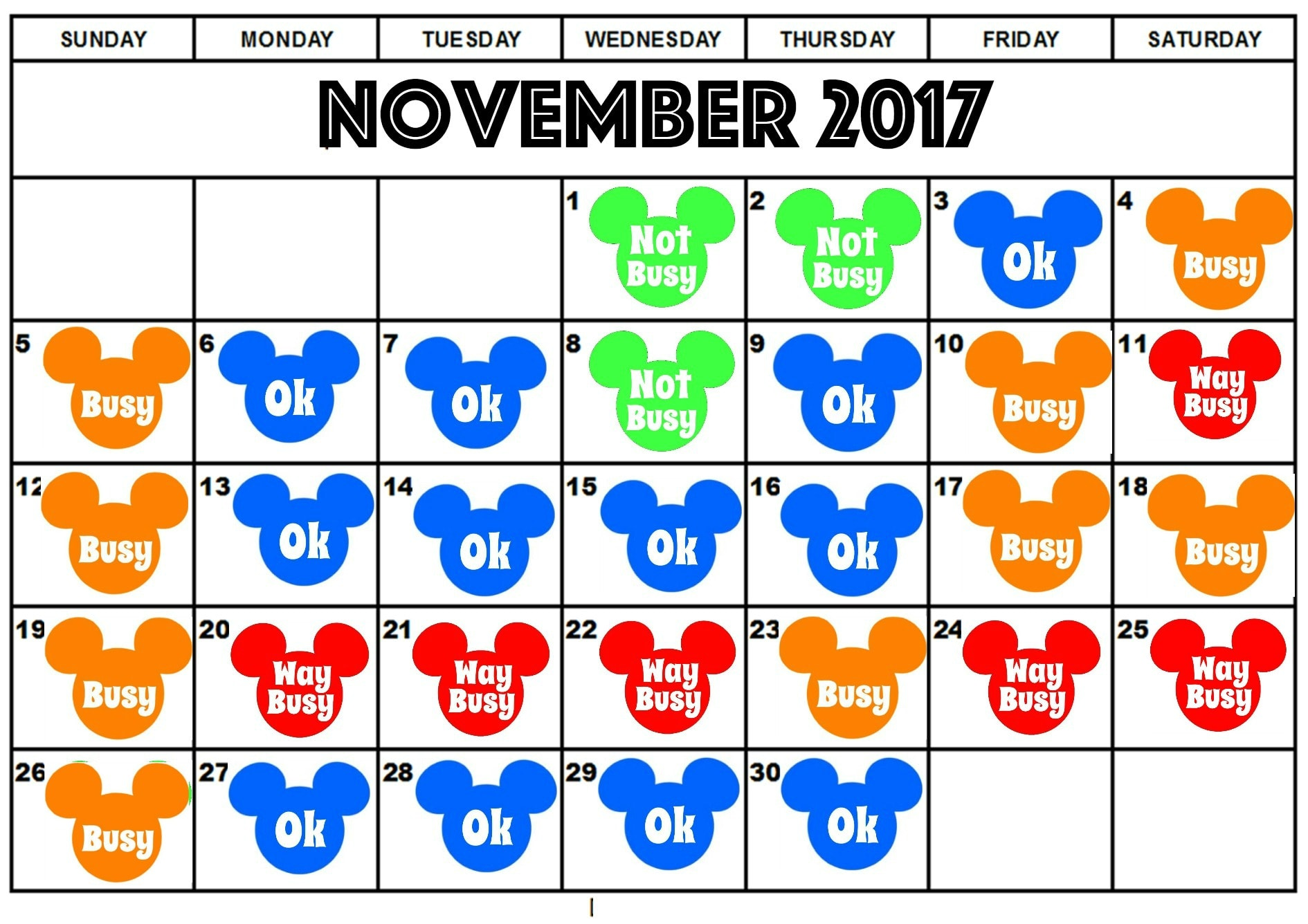 Best Days to Visit Disneyland 2017