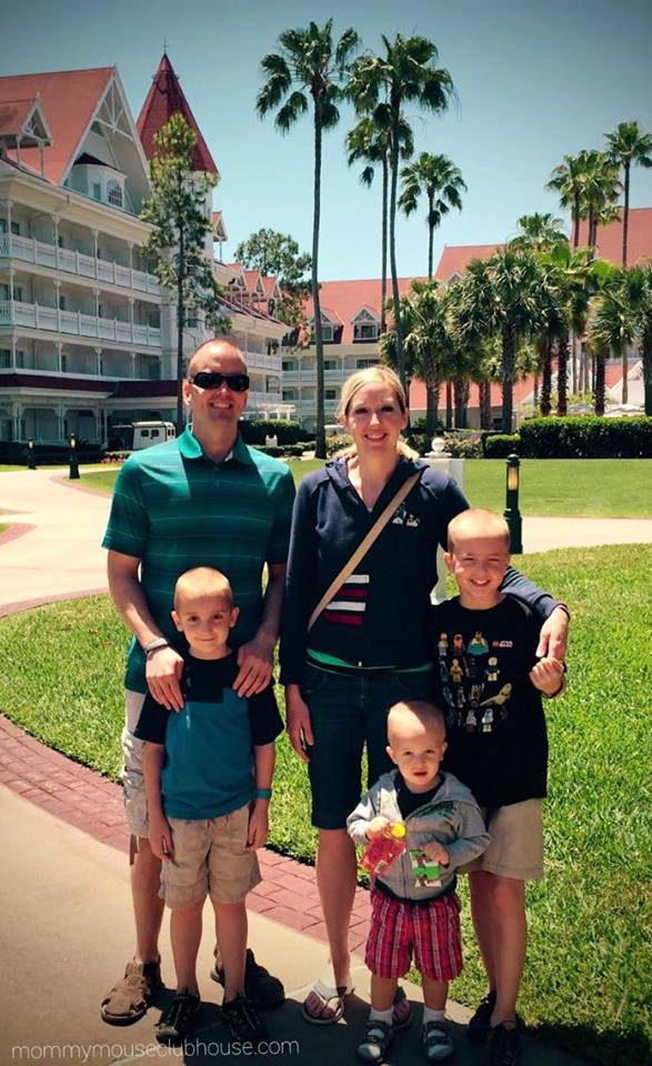 Picture of a family at the Grand Floridian Resort at Walt Disney World