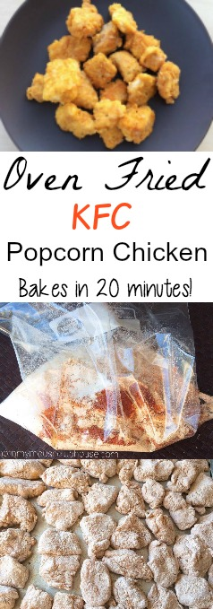 Oven Fried KFC Popcorn Chicken