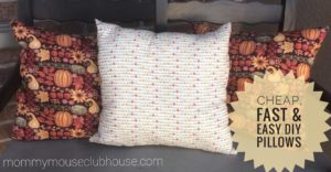 Cheap, Fast & Easy DIY Pillows