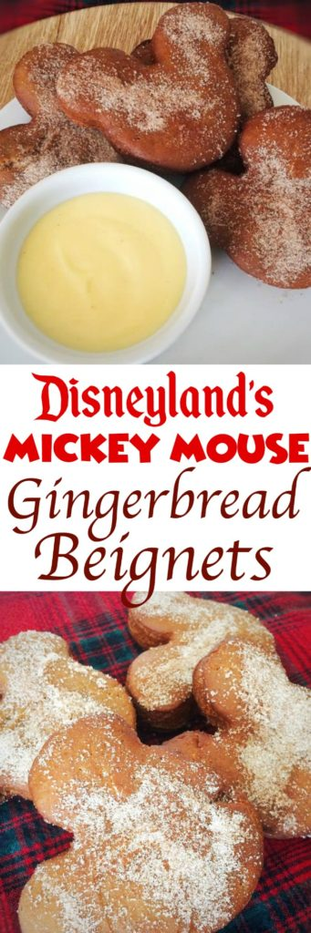 The recipe for Gingerbread Beignets from Disneyland with Eggnog Anglaise. Perfect For Christmas breakfast!