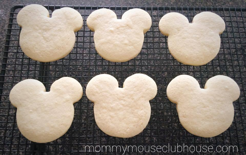 Mickey Mouse sugar cookies on a cooling rack from The BEST Sugar Cookie Recipe