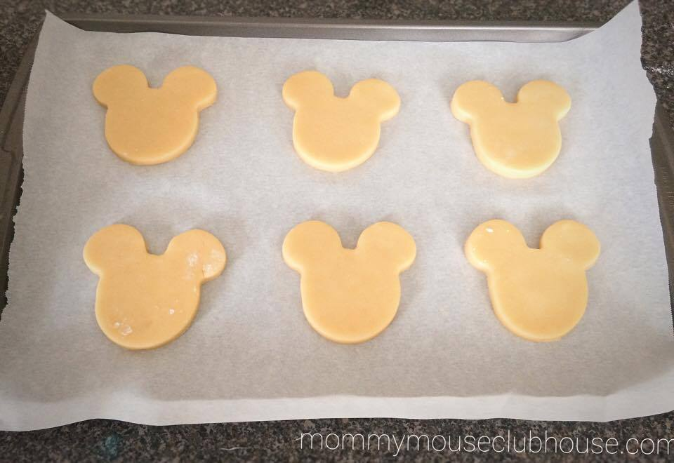 Unbaked Mickey Sugar Cookies
