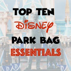 Top Ten Disney Park Bag Essentials