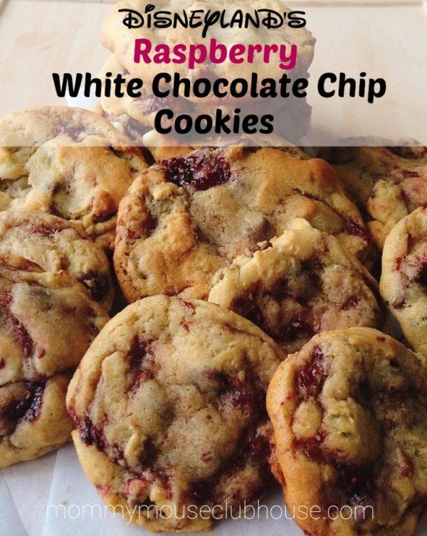 Disneyland's Raspberry White Chocolate Cookies