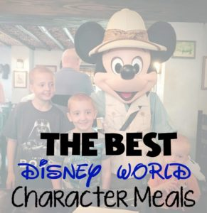 A List of The Best Disney World Character Meals