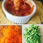 Pinterest Image for Homemade Restaurant Style Salsa with chopped vegetables and chips and salsa.
