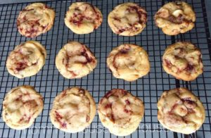 Disneyland's Raspberry White Chocolate Chip Cookies