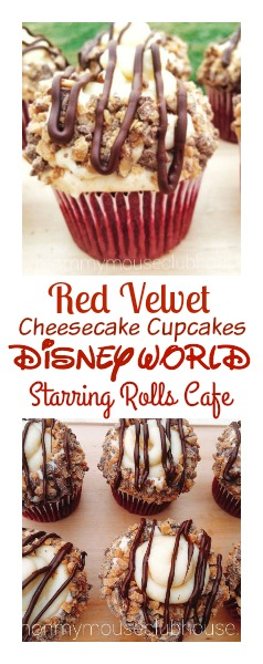 Red Velvet Cheesecake Cupcakes from Disney World's Starring Rolls Cafe