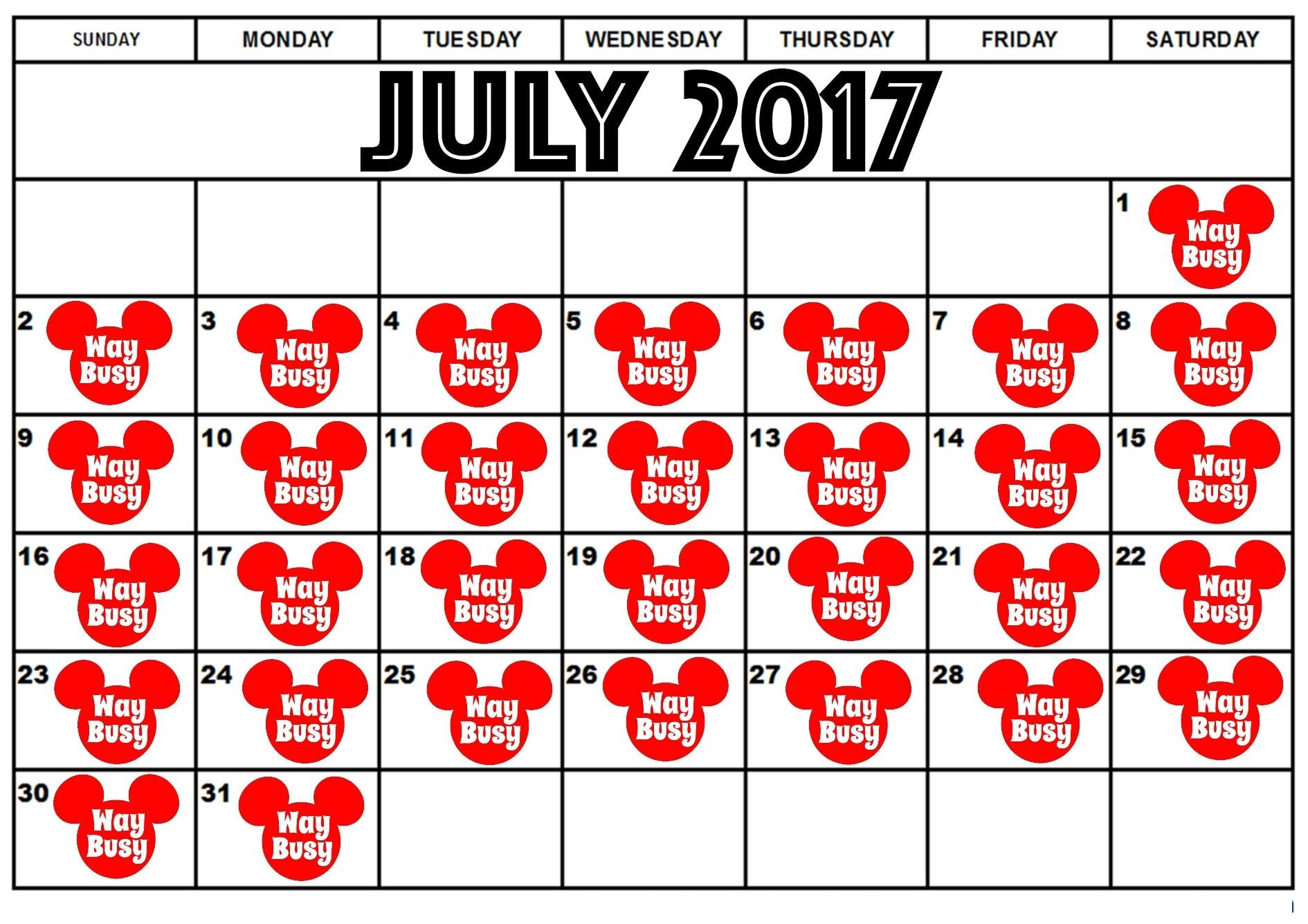 Best Days to Visit Disney World in 2017