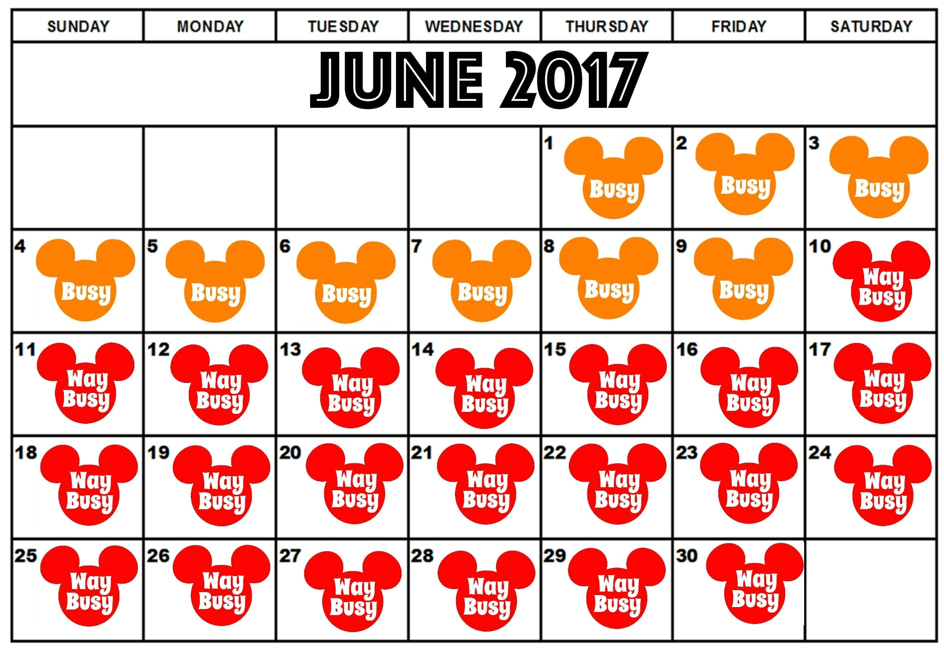 Best Days to Visit Disney World in 2017