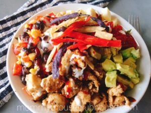 Fiesta Ranch Chicken Salad with BBQ Vinaigrette