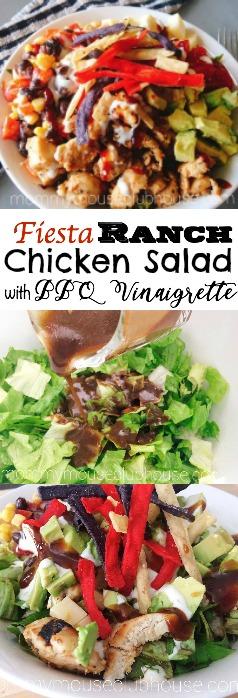 Fiesta Ranch Chicken Salad with BBQ Vinaigrette