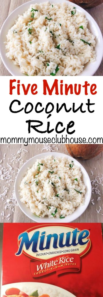 Easy Five Minute Coconut Rice, coconut rice recipe, instant rice