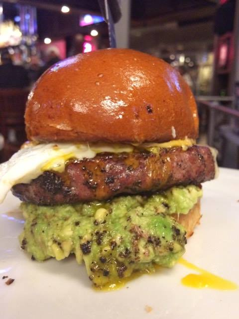 Cheeseburger with an egg and guacamole from Slater's 50/50