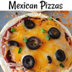 "Text ""homemade Taco Bell Mexican Pizzas"" a close up picture of a homemade Taco Bell Mexican Pizza"