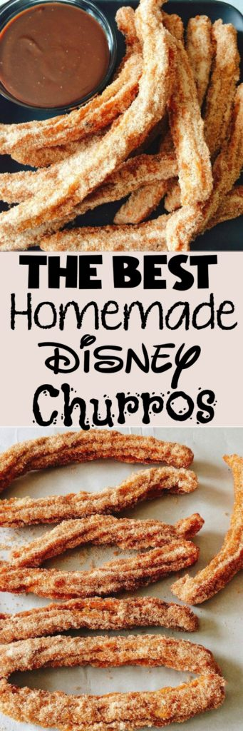 An easy copycat recipe for homemade Disneyland Churros and Disney World Churros plus How to make Lightsaber churros