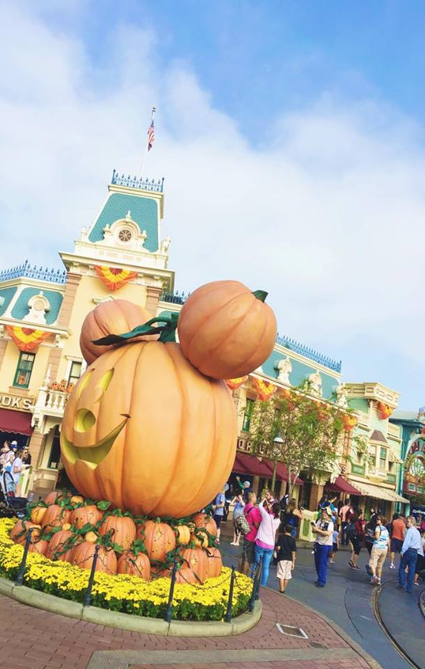 Mickey Pumpkin at Disneyland Halloween Time