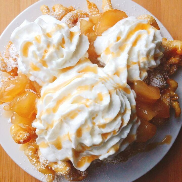 Disneyland's Apple Pie Funnel Cake
