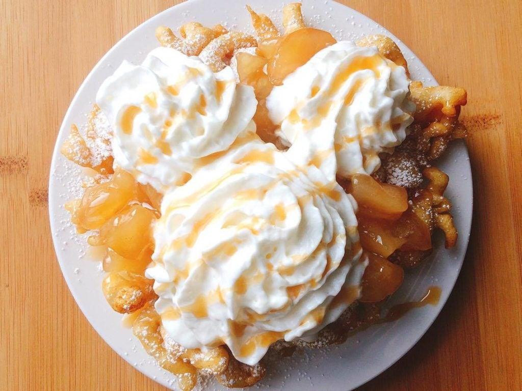 Disneyland's Apple Pie Funnel Cake