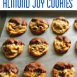 Chocolate Dipped Almond Joy Cookies