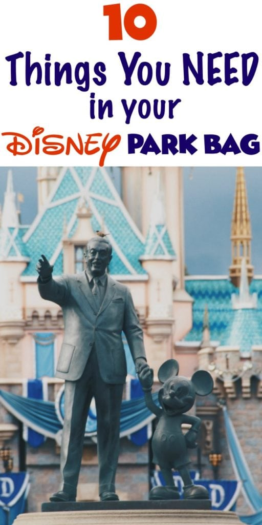 Top Ten Disney Park Bag Essentials