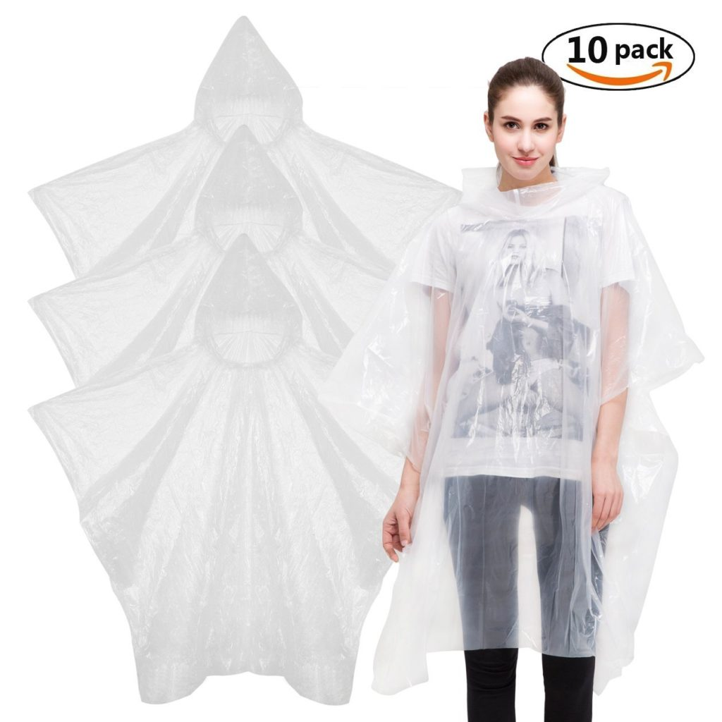 Rain Poncho Raincoat - Waterproof Poncho Plastic Raincoat Disposable Rainwear