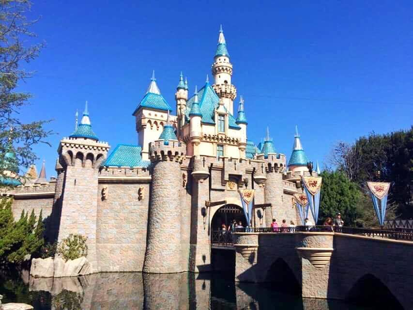 A picture of Sleeping Beauty Castle at Disneyland to help you stay on your Disneyland budget.