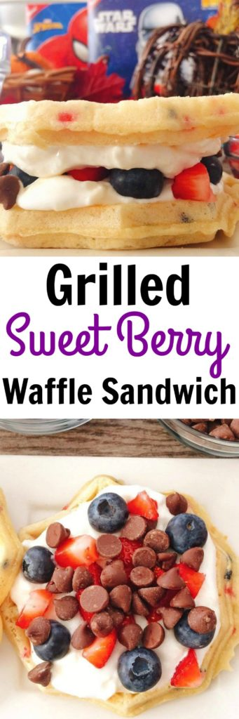 Grilled Sweet Berry Waffle Sandwich