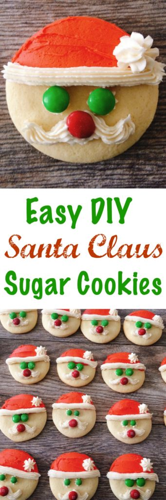 Easy Santa Sugar Cookies
