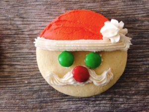 Easy Santa Sugar Cookies