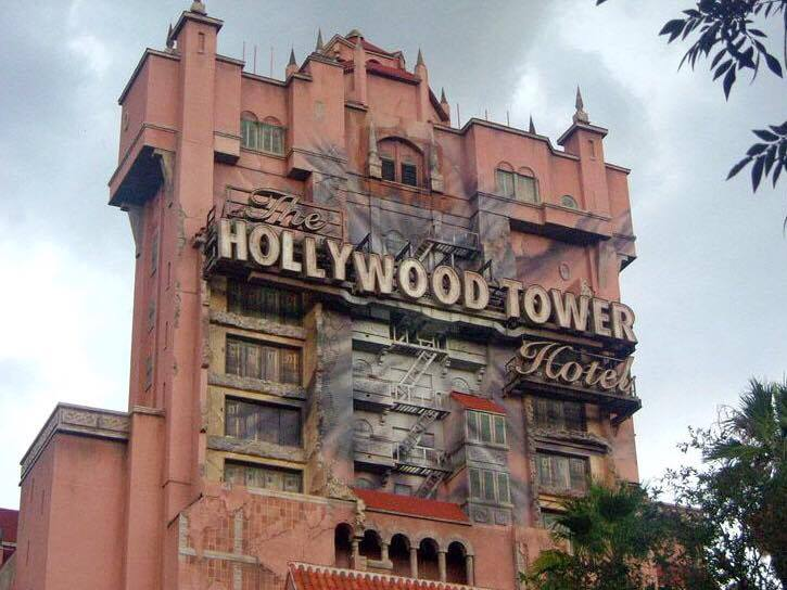 The Hollywood Tower of Terror at Disney's Hollywood Studios at Walt Disney World.