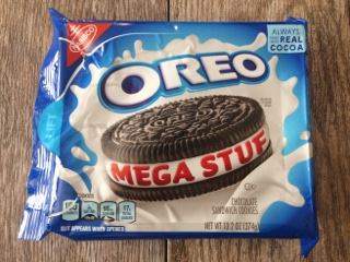 A package of Mega Stuf Oreo cookies