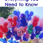 Text that says Disney Max Pass Everything You Need to Know above a picture of Mickey Mouse balloons.