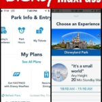 How to Make the Most of Disney Max Pass with two screenshots of the Disneyland app.