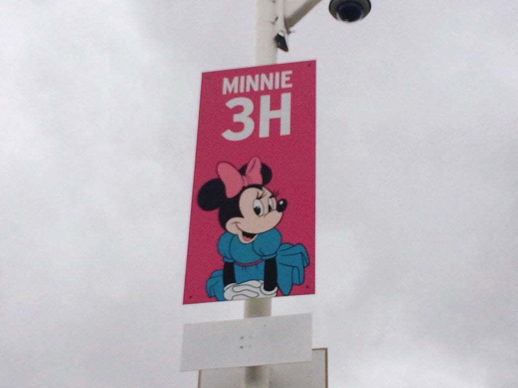 Disneyland Parking sign 3H with a picture of Minnie Mouse