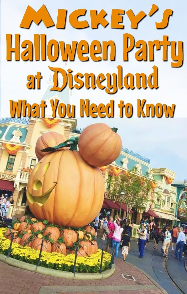 text that says mickeys halloween party at disneyland everything you need to know over