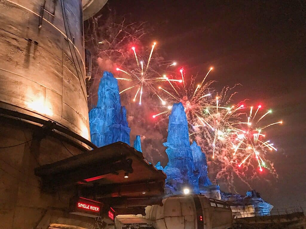 Fireworks in Star Wars: Galaxy's Edge