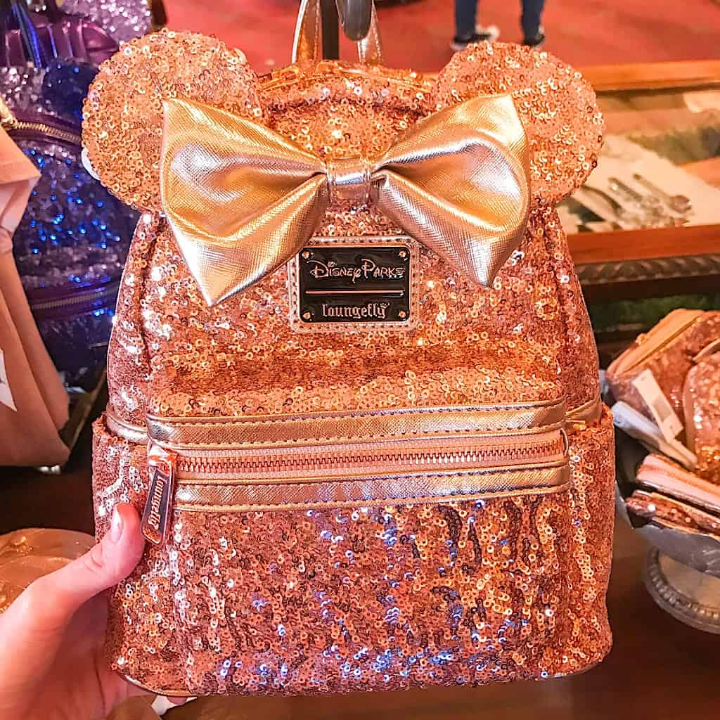 Loungefly Rose Gold Minnie Mouse Backpack