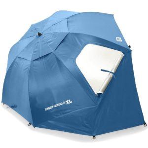 Every Sports Mom needs a A Sport-Brella XL, large umbrella used to provide shade at sporting events or the beach.