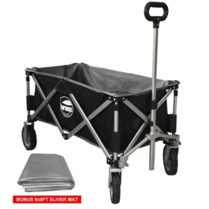 Every Sports Mom needs a black and grey utility wagon