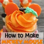 Mickey Mouse Pumpkin Cupcake