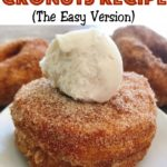 "Text ""Disney World Cronuts Recipe"" and a picture of cronuts with a scoop of ice cream."