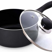 Utopia Kitchen 2 Quart Nonstick Saucepan with Glass Lid - Multipurpose Use for Home Kitchen or Restaurant