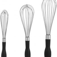 AmazonBasics Stainless Steel Wire Whisk Set - 3-Piece