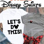 "Text ""Where to Buy Cheap Disney Shirts"" and a picture of two Disney shirts."