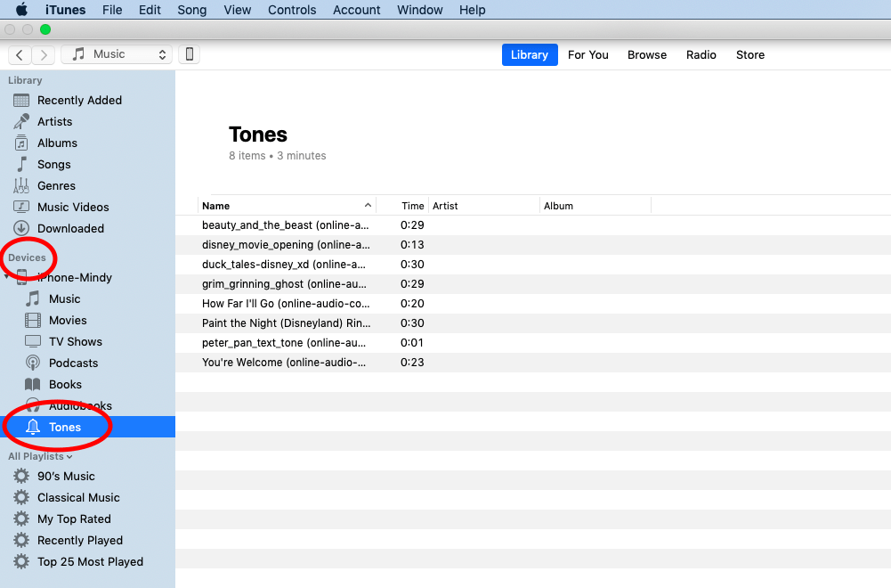 A screenshot of iTunes