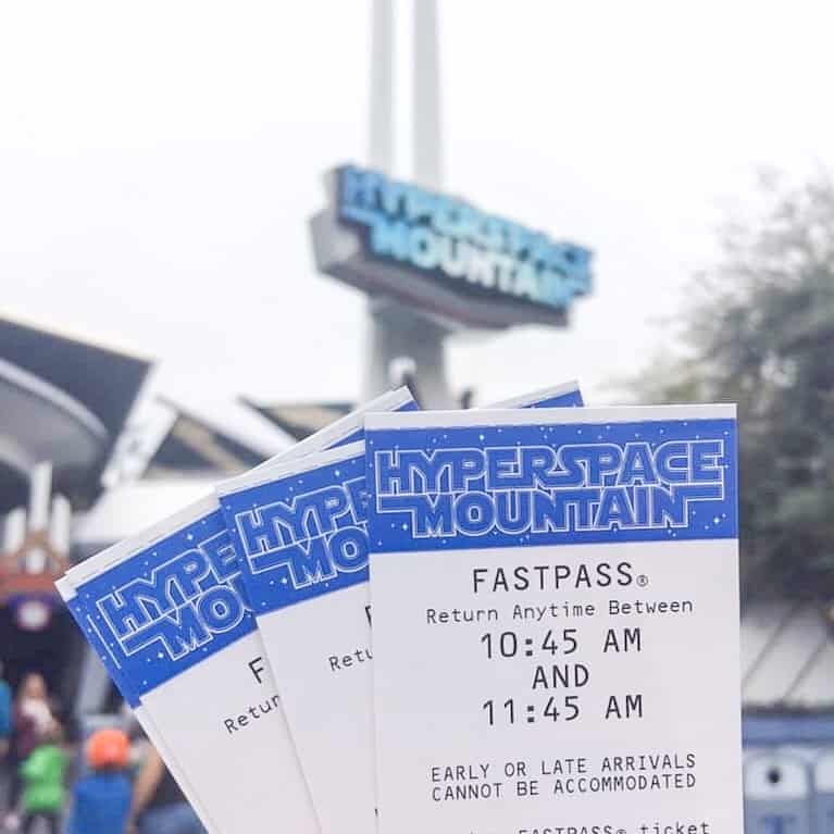 Fastpasses for Hyperspace Mountain at Disneyland