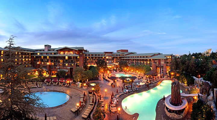 The pool area of Disney's Grand Californian Hotel & Spa